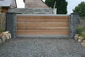fabriquer portail bois myqtocom With fabriquer un portail de jardin en bois