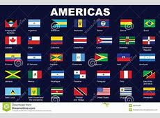 Flags Of Americas Royalty Free Stock Images Image 28555289