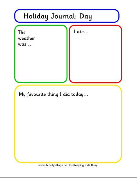 Free Journal Writing Pages Holiday Journal Template For