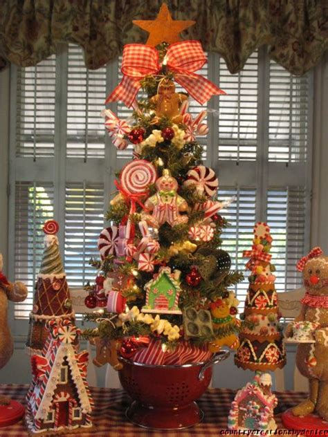 primitive gingerbread candy kitchen christmas tree created