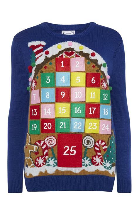 impressive advent calendar christmas jumper  primark