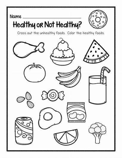 Kindergarten Worksheets Health Coloring Pages