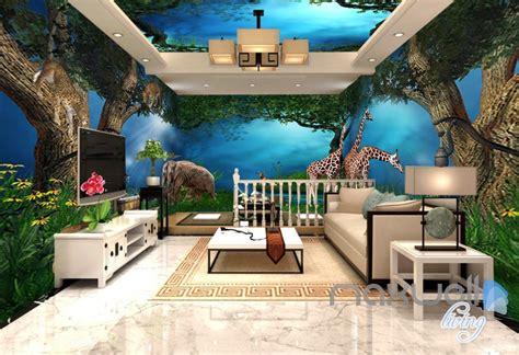 jungle animals forest elepant entier living room