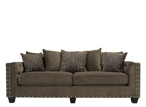 Microfiber Sofas With Nailhead Trim by Calista Microfiber Sofa Dynasty Truffle