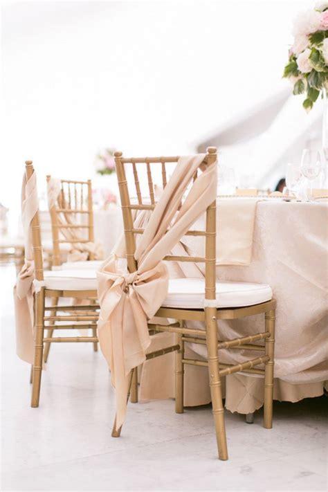 blush pink chair sash wedding favorite