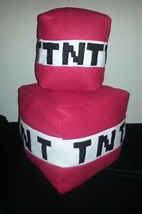 Tnt, Block, Plush, Pillow