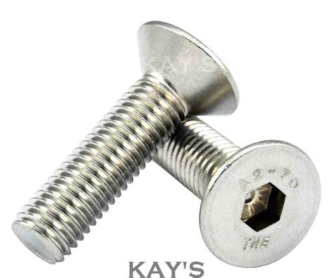 countersunk bolt csk allen key socket