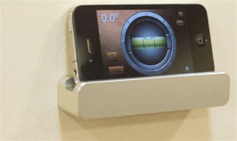 iphone wall mount ledge wall mount minimal but useful technabob