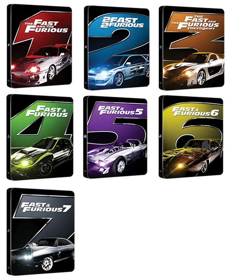 fast and furious 1 7 fast and furious 1 7 steelbook italy hi