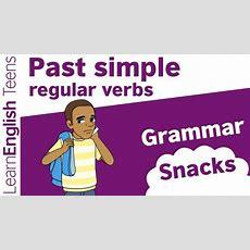 Grammar Snacks Past Simple  Regular Verbs Youtube