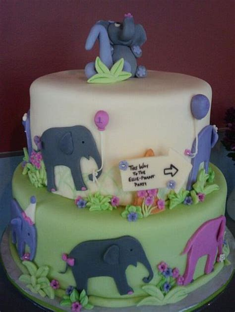 Two tier elephant theme birthday cake for kids.JPG (1 comment)