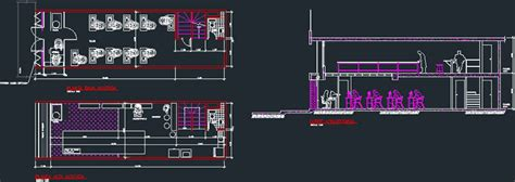 store boutique clothing company dwg plan  autocad