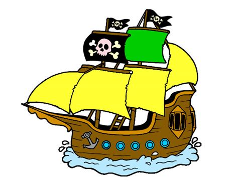 Dibujo Barco Pirata Infantil by Barco Pirata De Jake Para Colorear Imagui