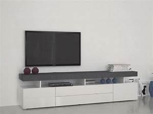 Meuble Tv Blanc Avec Tiroirs Solutions Pour La