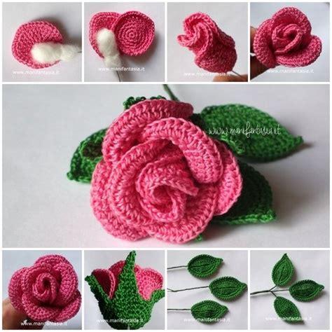 fiori fatti a uncinetto uncinetto con gambo aperte schemi e tutorial