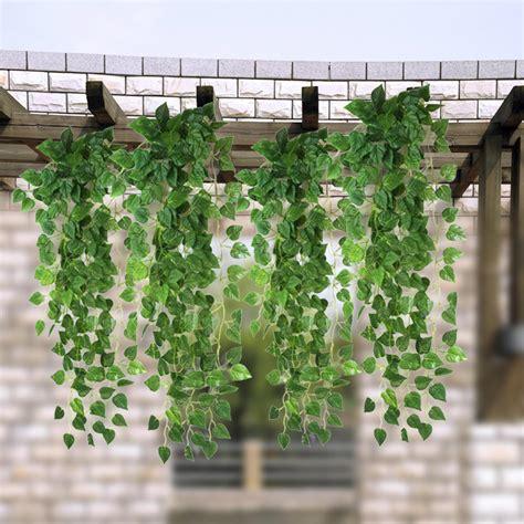Didadi 83 ft 12 pack artificial fake hanging plant leaves foliage. Artificial Fake Green Hanging Vine Plant Leaves Garland ...