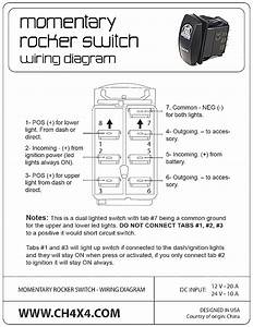 How To Wire A Rocker Switch Diagram