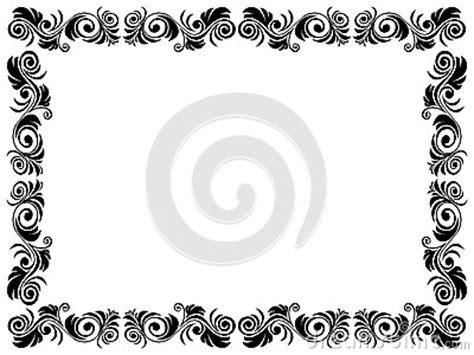 cadre noir et blanc de blanc avec l 233 l 233 ment floral images libres de droits image 38364219