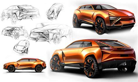 Car Design Concepts : Lamborghini Concept Design Sketches