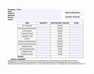 sample rent invoice templates 8 download free documents With equipment rental invoice template