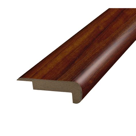 pergo stair nosing shop pergo 2 37 in x 78 74 in mahogany stair nose floor moulding at lowes com