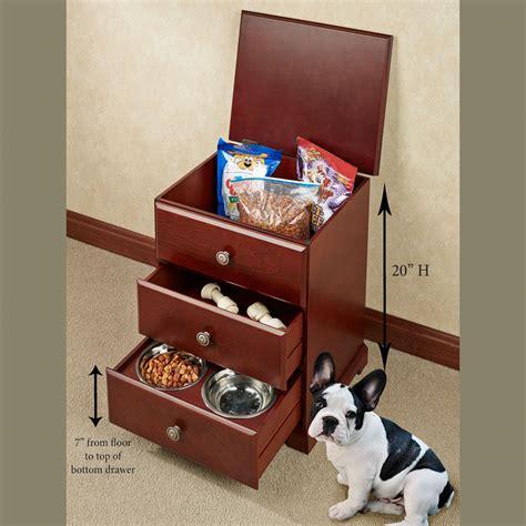 pet food hideaway storage unit  bowls