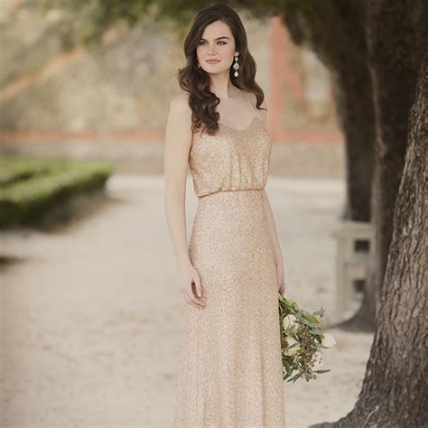 runway  wedding day sequin bridesmaid dresses pretty
