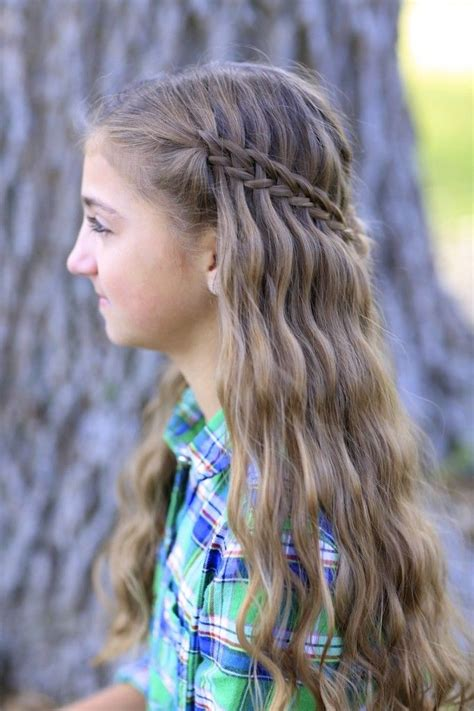 cute hairstyles pictures scissor waterfall braid combo cute girls hairstyles
