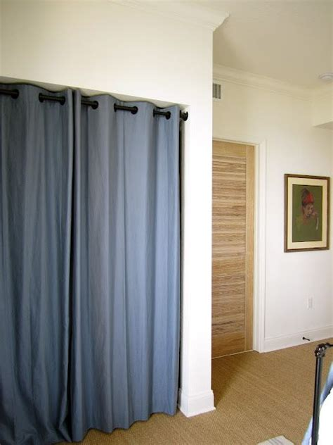 Closet Cover Options grommet curtains instead of closet doors creative