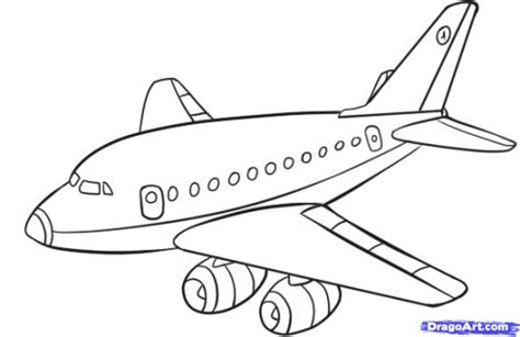cartoon plane drawing img