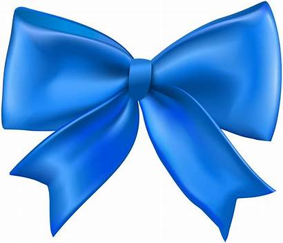Bow Ribbon Transparent Clipart Clip Ribbons Blau