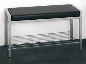 Schuhregal Mit Bank : schuhregal schuhablage bank kunstleder schwarz metall ~ Whattoseeinmadrid.com Haus und Dekorationen