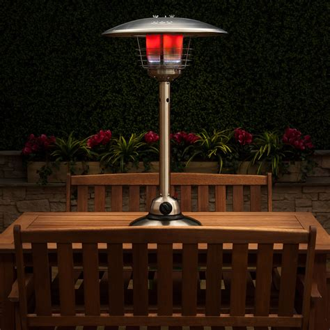 stainless steel table top gas patio heater with adjustable