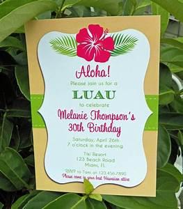 luau invitation printable or printed with free shipping With diy hawaiian wedding invitations