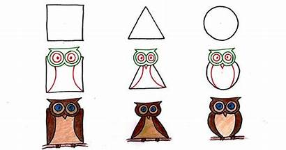 Shapes Animals Drawing Using Simple Geometric Draw