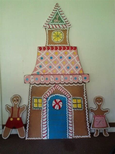 christmas cut out yard decorations gingerbread house cut out of plywood and painted christmas diy yard decorations diy