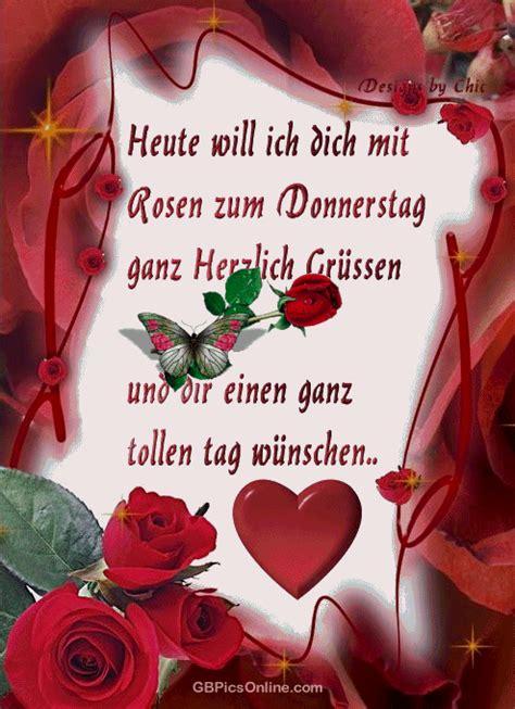 heute  ich dich mit rosen zum donnerstag ganz herzlich