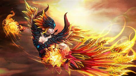 lina skin fireflight scion dota  desktop wallpapers hd