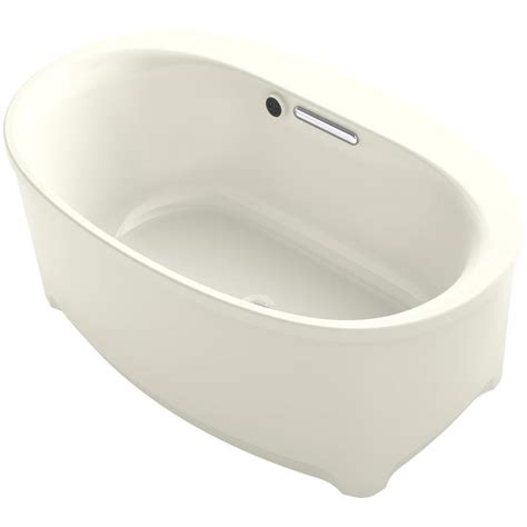 Biscuit Tub by Kohler Underscore 60 In Biscuit Acrylic Oval Center Drain