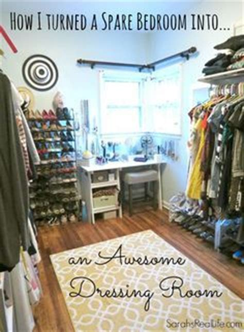 how to turn a spare bedroom into a dressing room or walk