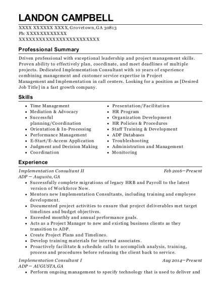Implementation Consultant Resume by Allscripts Implementation Consultant Resume Sle