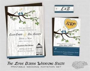 rustic country wedding invitation printable love birds With free printable love bird wedding invitations