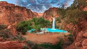 Havasupai, Falls, Arizona, Hd, Wallpaper