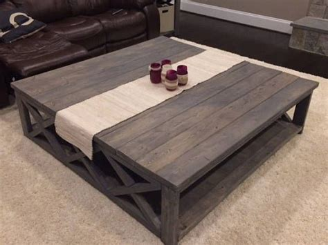 Get the right model for you. Custom Rustic Farm House Coffee Table (Extra Large)   Large square coffee table, Farmhouse style ...