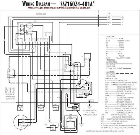 Goodman Heat Pump Air Handler Wiring Diagram Free