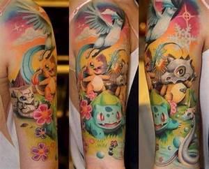 Epic pokemon half sleeve! | Tattoos i like :) | Pinterest ...