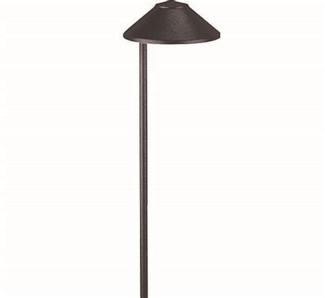 focus industries pl 01 aluminum china hat led path light