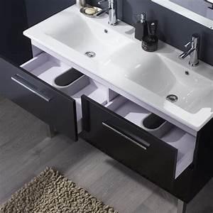 grand meuble salle de bain meuble double vasque pas cher With salle de bain design avec double vasque noir
