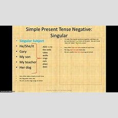 Simple Present Negative Power Point Screencast Youtube