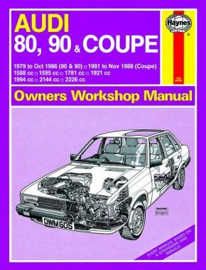 free car repair manuals 1994 audi 90 electronic throttle control audi 80 90 coupe 1979 november 1988 up to f haynes publishing
